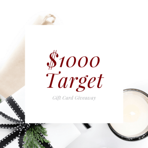 $1000 Target Gift Card Giveaway!