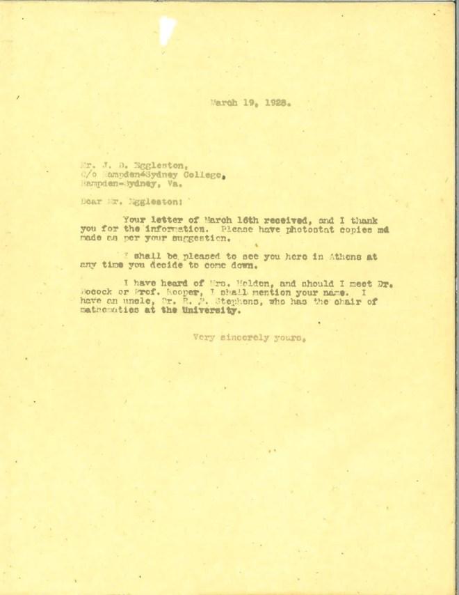 1928_03_19_Ltr DCC to J D Eggleston