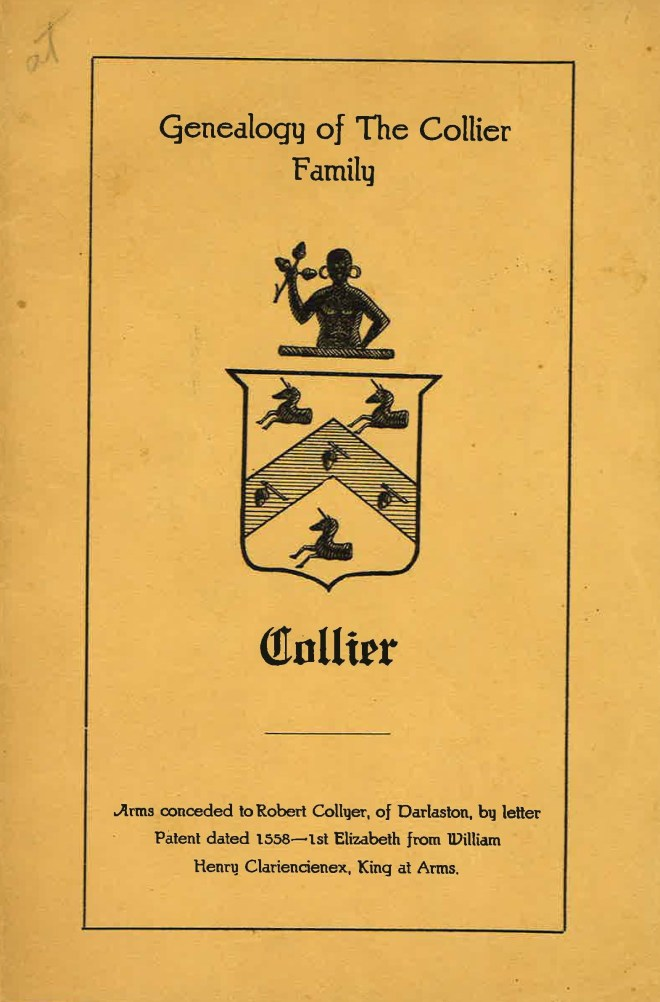 Genealogy of the Collier Family cover