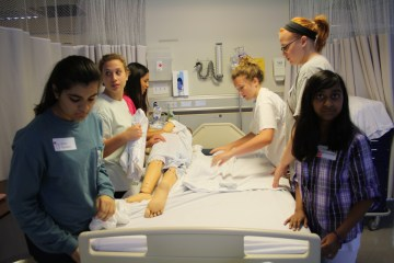 Campers participated in several simulation exercises.