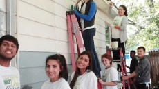 Collin students volunteer with Habitat for Humanity on Oct. 22, Make a Difference Day.