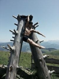 Nicholas Kao in tree