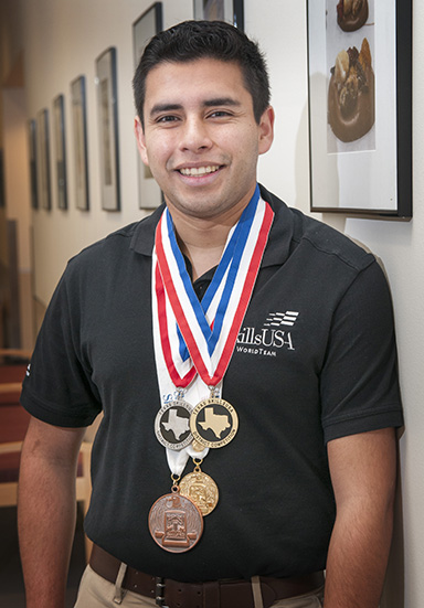 Luis Vazquez won several medals in state and national SkillsUSA competitions before traveling to the WorldSkills competition in Sao Paolo, Brazil in 2015.