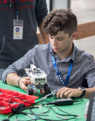 Description: Parker Brooks. NASA Community College Aerospace Scholars Week 2. Photographer: Allison Bills