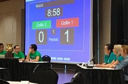 Collin College students participate in the Texas Sputum Bowl.