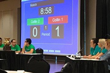 Collin College students participate in the Texas Sputum Bowl.