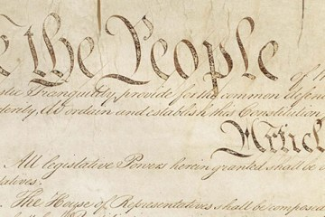 Partial public domain image of the Constitution