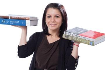 Collin College Alum Holding Books Aloft