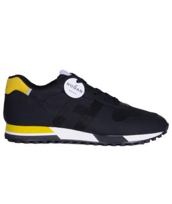 Hogan-lacci-running-trimateriale-nero-giallo-1