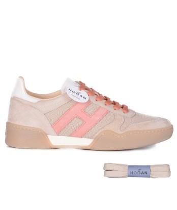 Hogan-lacci-sport-multimateriale-beige-rosa-1