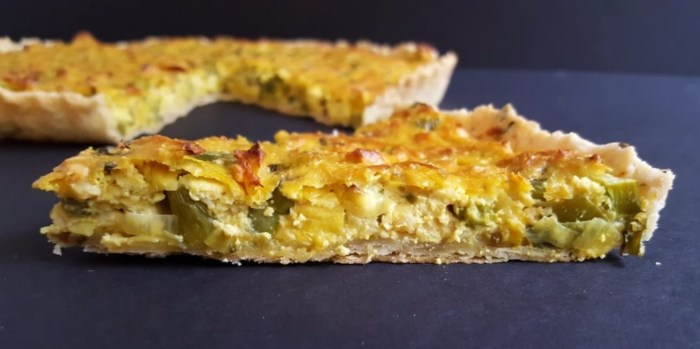 Coveted Asp Tofu Leek Quiche