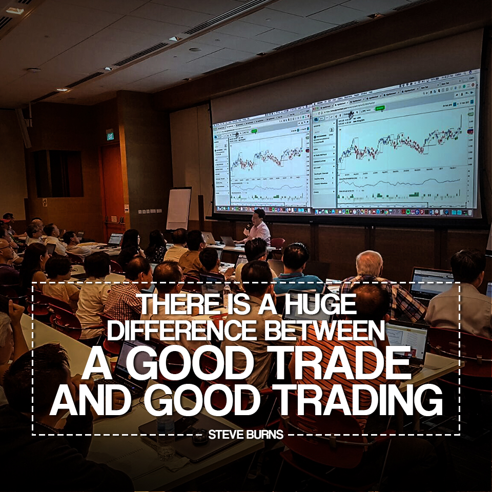 There is a huge difference between a good trade and good trading