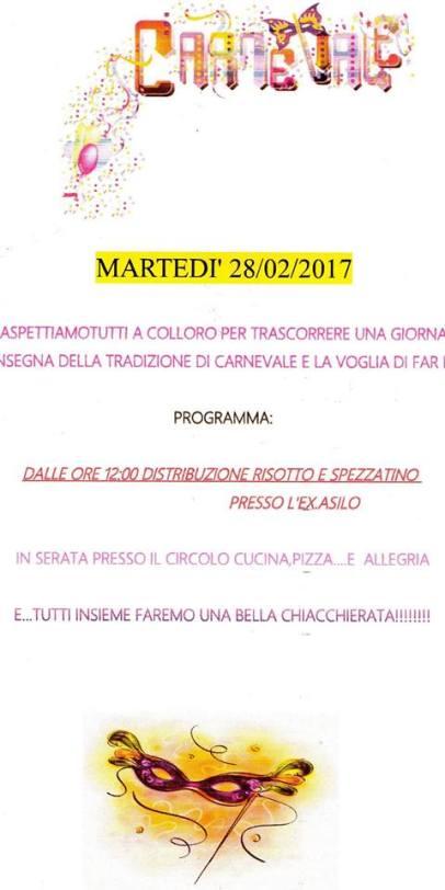 Carnevale 2017 Colloro