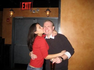 Ian bday kiss