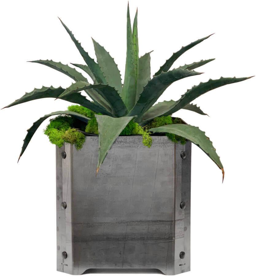 DIY Steel Garden Planters Image