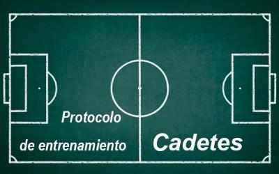 Protocolo de entrenamiento  para CADETES