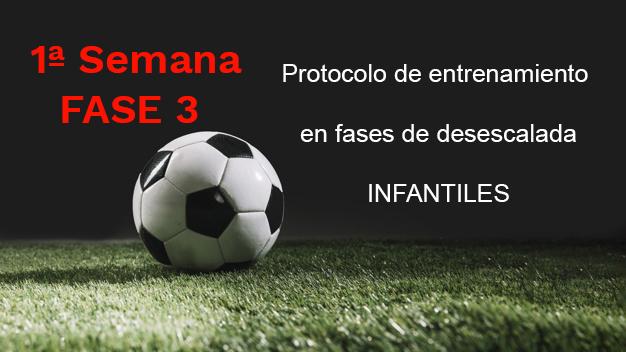 Semana 1 FASE 3 Entrenamiento  en fases de desescalada para la categoría de Infantiles