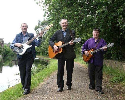 Michael (Centre) with friends Martin Dawson and Gerald Norcross