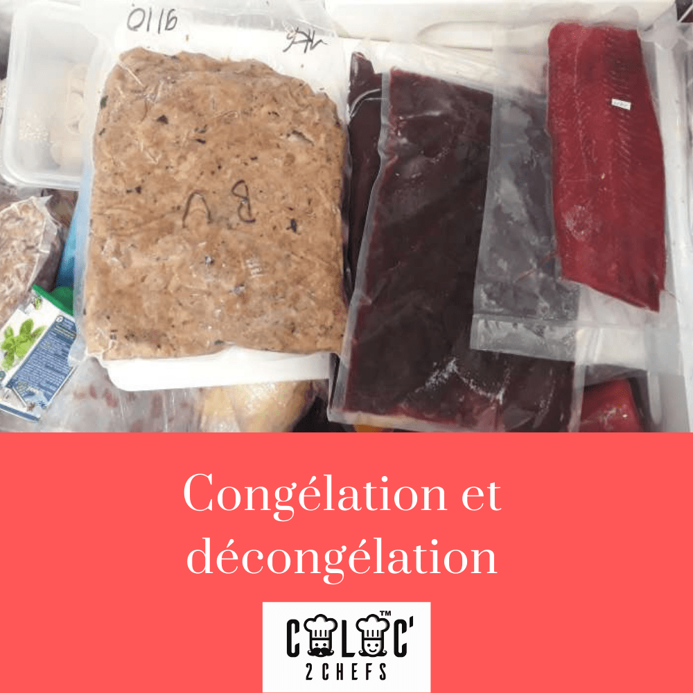 congélation et décongélation