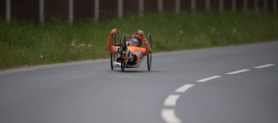 ELSDORF, GERMANY - MAY 14: Single Time Trials at the Terra Nova Forum during day-1 of the Cologne Classic on May 14, 2016 in Elsdorf, Germany (Photo © 2016 Oliver Kremer   https://www.pixolli.com)