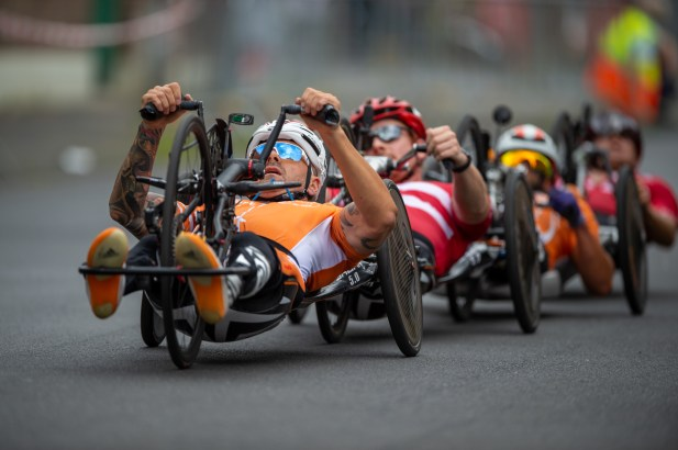 LONGERICH, GERMANY - JUNE 10: Vico Merklein of GER competing at the Race Track - Longericher Hauptstrasse during the Cologne Classic 2019 - Road Races - Strassenrennen on June 10, 2019 in Longerich, Germany (Photo © 2019 Oliver Kremer | https://sports.pixolli.com)