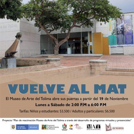 Museo de Arte del Tolima reabre sus puertas