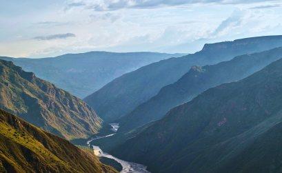 Majestuosidad del valle del Rio Sogamoso