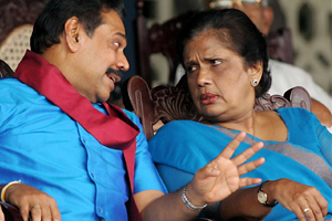 Mahinda and Chandrika