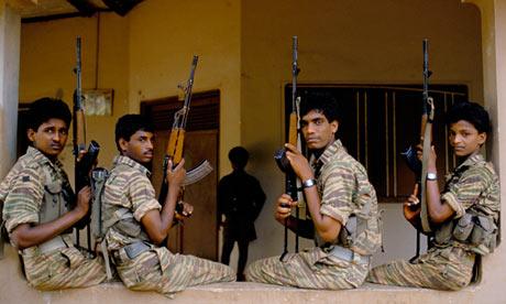 Young Tamil Tiger rebels in Jaffna, 1991.
