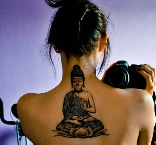 buddha-tattoos-back-design-idea-nice-girl-photo