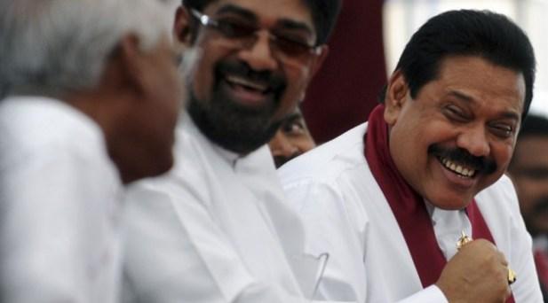 Rajapaksa and Media Minister Rambukwella