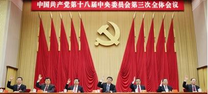 Chinese CP Politburo Standing Committee in November 2013. Left to right,  Zhang Gaoli, Liu Yunshan, Zhang Dejiang, Xi Yinping (Party Secretary and President),  Li Keqiang (Prime Minister), Yu Zhengsheng and Wang Qishan