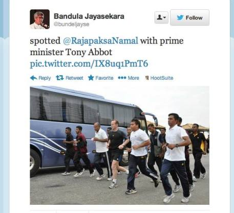 The press reports and the steady stream of photos emerging from CHOGM Colombo of our Prime Minister jogging with a Rajapaksa scion, if true (after all, the photos might have been manipulated), indicate our government felt no discomfort continuing a line of diplomacy begun by the previous Labour government towards Sri Lanka.