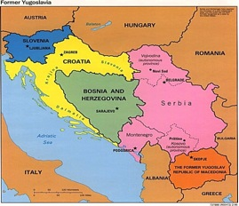 Montenegro, Kosovo and Macedonia are now separate countries Albania was always separate