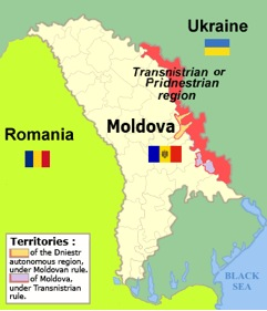 Small (half Lanka's size) Moldova, and tiny Transnistria (population half million, size one-tenth of Lanka) which has proclaimed itself an independent state!