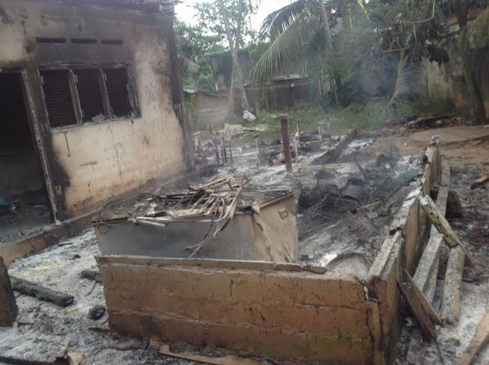 Aluthgama riots house