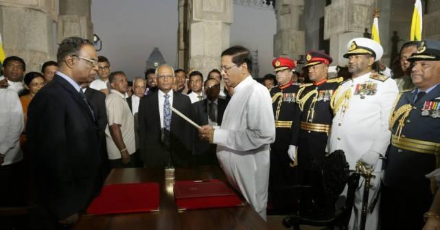 Justice K. Sripavan - Maithripala