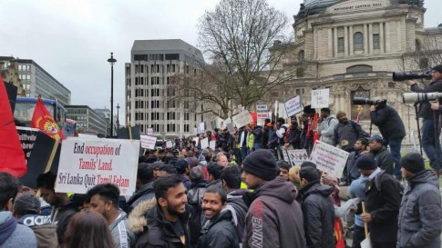London Tamil protest 09 March