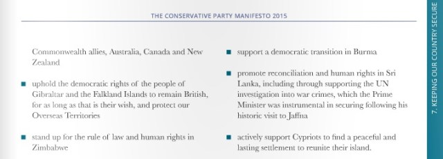 Conservative Party's election manifesto Sri Lanka