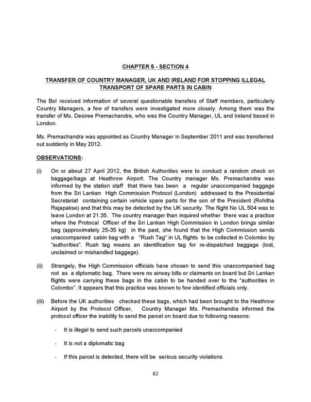 Rohitha Rajapaksa Airlanka