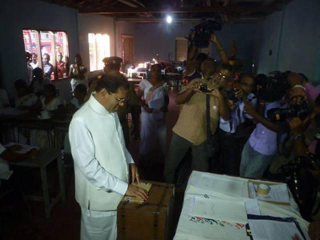 Maithripala Vote Jan 8 2015