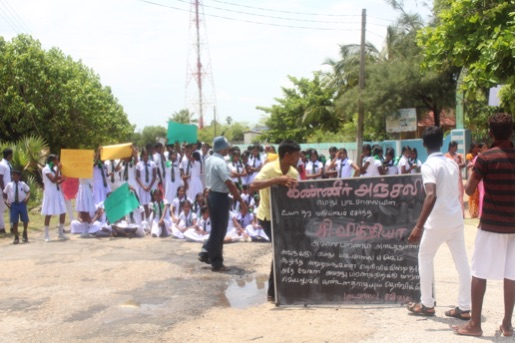 Photo: by Thanges Paramsothy, students protesting against the murder of the fellow student in Pungudutivu