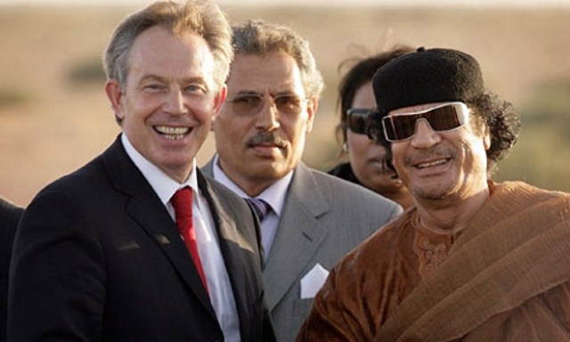 Tony Blair & Gaddafi