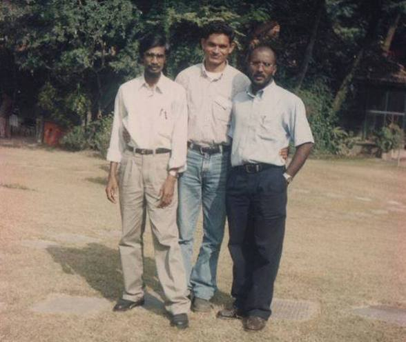 Tilivin Silva - the current JVP secretary (left) and Kumar Guanratnam ( right)