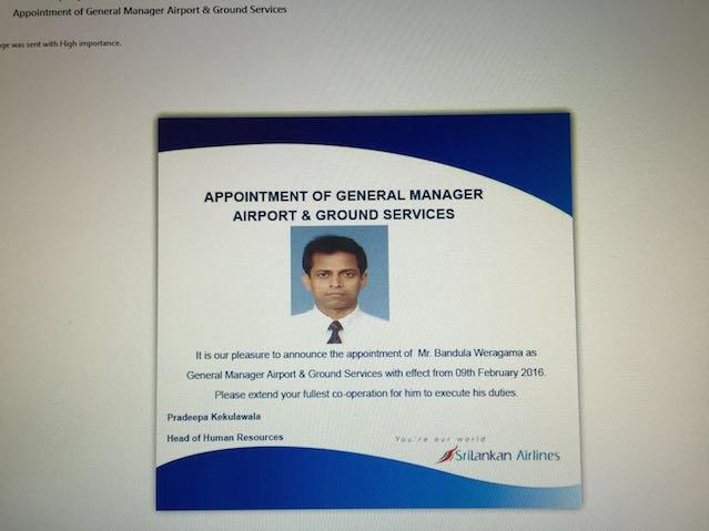 Bandula Appointment