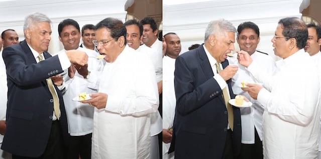 Ranil and Maithri @ RW's 67th Birth day