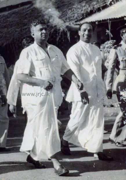 Dudley Senanayake and JRJ