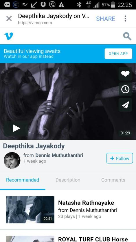 Deepthika Jayakody the Owner with Late Champion Thoroughbred Charlatan
