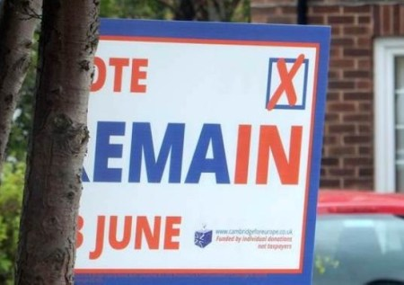 Remain in Europe Campaign, Photograph by S. Thevaram 2016