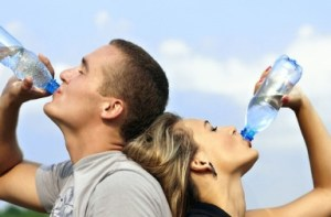cuple drinking water